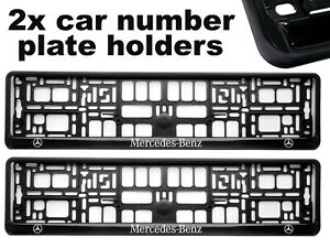 2-x-Doming-CAR-Number-Plate-Surround-Holder-Frames-BEST-FIT-RACING-for-MERCEDES
