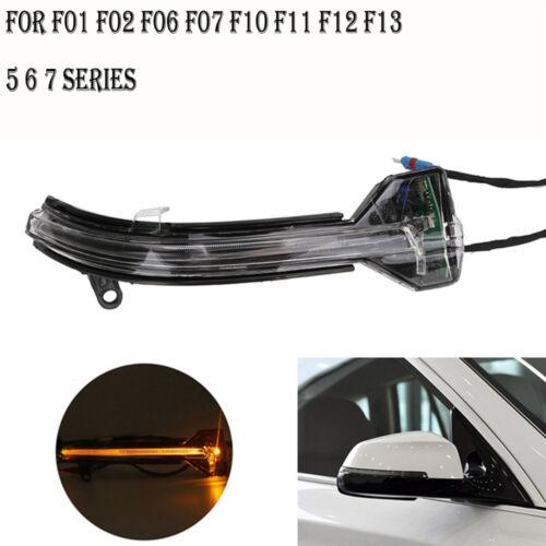Right For BMW F10 F07 F06 F12 F13 F01 LCI LED Turn Mirror Glass Signal lights