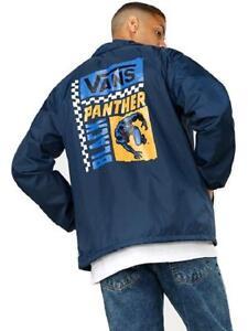 Vans-Off-The-Wall-Men-039-s-Marvel-Black-Panther-Torrey-Coaches-Windbreaker-Jacket