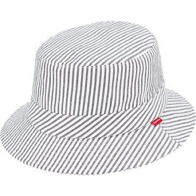 SUPREME x Brooks Brothers Seersucker Bucket Hat S/M Seersucker box logo  S/S 14