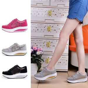 Women-Leather-Trainers-Floral-Platform-Sneakers-Comfort-Sport-Running-Shoes-New