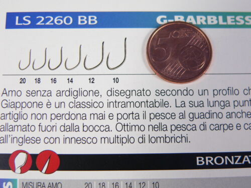 barbo cavedano Ami Gamakatsu LS-2260BB barbless senza ardiglione pesca agonismo