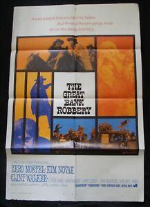 THE GREAT BANK ROBBERY original 1969 studio publicity
