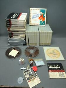 Reel-To-Reel-Tape-Lot-Of-36-Beatles-Grateful-Dead-Scotch-Maxell-E35-7-BASF