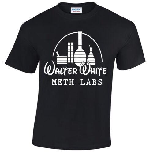 WALTER WHITE METH LABS MENS T SHIRT BREAKING BAD INSPIRED HEISENBERG TEE