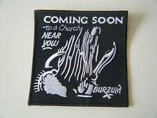1BURZUM1 PATCH Iron On Embroidered Black Metal Darkthrone Mayhem Old Funeral NEW