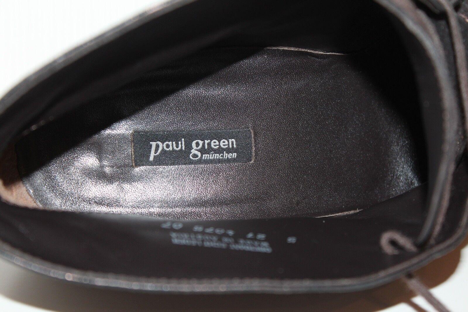 Gabor señora schnürzapatos Lace up botines zapatos zapatos zapatos 39 cuero Leather zapatos 5.5 8038c2