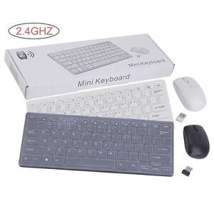 2-4GHz-Wireless-Funk-Mini-Funktastatur-USB-Maus-Tastatur-Keyboard-Neu-DHL