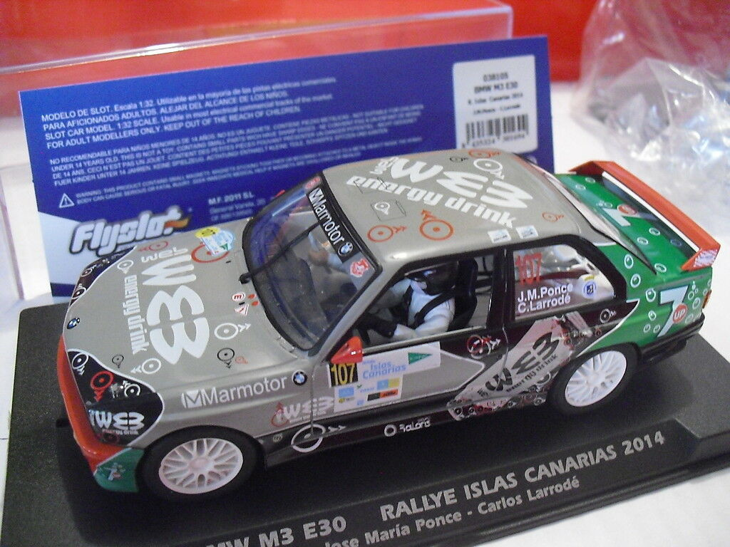 Fly BMW M3 E30 Rally Islands Canarias 2014 1 32 new new Ref. 038105