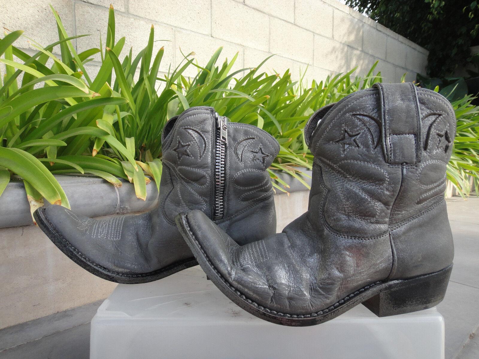Oro Goose Deluxe Marca Marca Deluxe Star cremallera botas de vaquero, lame D 'Gris para Mujeres EUR37 fd7964