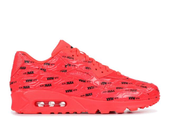 Nike Air Max 90 Premium Mens 700155 604 Bright Crimson Running Shoes Size 9