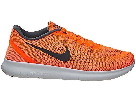Uomo NIKE FREE 831508 RN Total Orange Textile Running Trainers 831508 FREE 800 c2ea69