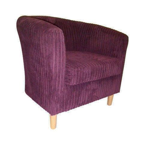 Doux velours côtelé coussin tapisserie canapé tissu couleur aubergine