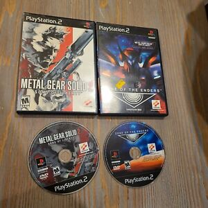 Lot-of-2-Hideo-Kojima-Konami-PS2-Games-Metal-Gear-Solid-Sons-Liberty-Zone-Enders