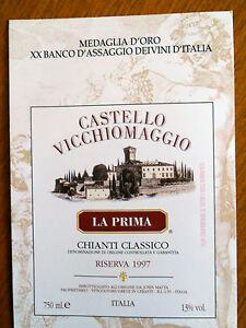 Italian-Postcard-Castello-Vicchiomaggio-Greve-Chianti-Italy-castle-NEW-old-rare