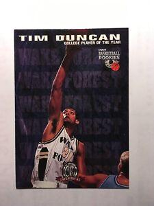Details About 1997 Basketball Rookies 62 Tim Duncan San Antonio Spurs Rookie Card