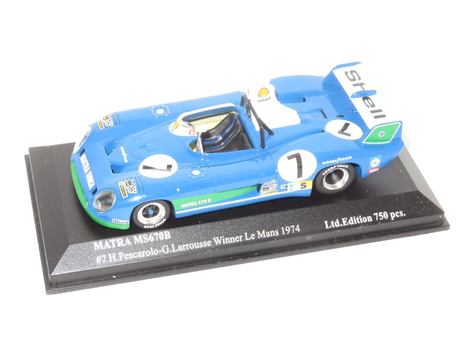 1 43 Matra MS670  Winners Winners Winners Le Mans 24 Hrs 1974  Larousse Pescarolo f71fb9