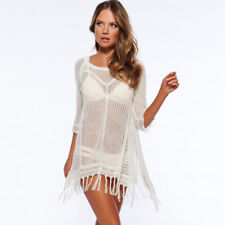6574ebb03a6 item 2 Womens Swimsuit Bikini Cover Up Dress Fringe Crochet Summer Beach  Mini Dresses -Womens Swimsuit Bikini Cover Up Dress Fringe Crochet Summer  Beach ...