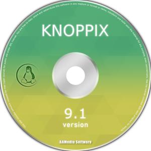 Linux Knoppix 9.1 Desktop 64bit Live Bootable DVD Rom Linux Operating System