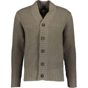 Adidas-SLVR-Homme-Gris-Chunky-Boutonne-Laine-D-039-agneau-Cardigan-taille-moyenne