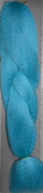 sky blue kanekalon synthetic Fiber  jumbo braid hair dreadlock extension