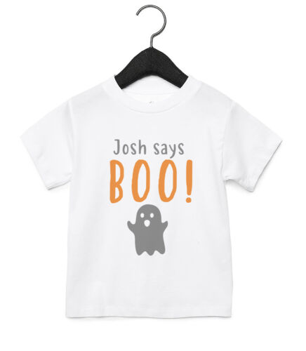 Boo Halloween Personalised Baby Toddler T Shirt Kids Funny Gift Cute 10