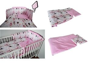 Nursery Bedding Baby baby Girl Boy+more Brown Baby Bedding Set Fit Cot 120x60cm Or Cot Bed 140x70