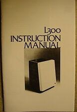 JBL L300 SPEAKER INSTRUCTION MANUAL PACKAGE 28 Pages