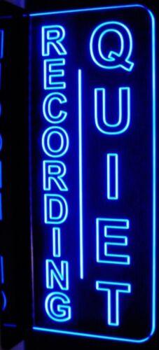 "Recording Quiet Court Room Music Studio Acrylic 11/""Led Edge Lighted Sign Plaque"
