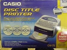 Disco Title transferencia térmica Impresora CASIO CW-75 impresión de gráficos DVD Images