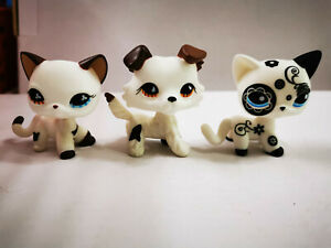 3pcs//Lot Littlest Pet Shop LPS#886 #933 #468 SHORT HAIR CATS Kid Toy Gift