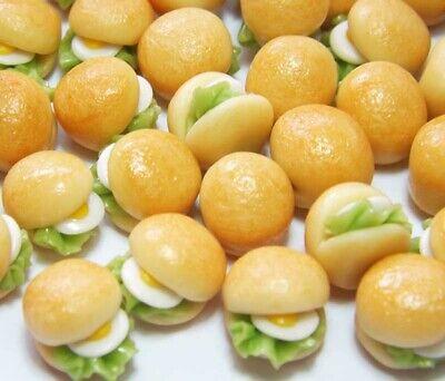50 Dollhouse Miniature Fried Eggs Doll Mini Food Egg Breakfast
