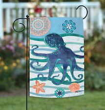 NEW Toland - Oceanic Octopus - Colorful Blue Sea Star Swimming Garden Flag