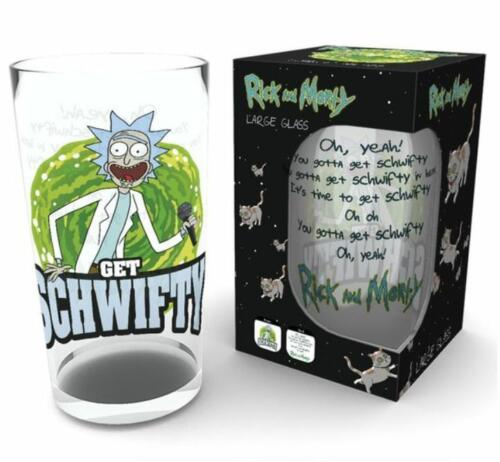 OFFICIAL RICK AND MORTY GET SCHWIFTY PINT DRINKING GLASS NEW AND GIFT BOXED