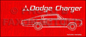 1967 Dodge Charger Owners Manual 67 Owner Operating Instruction Book