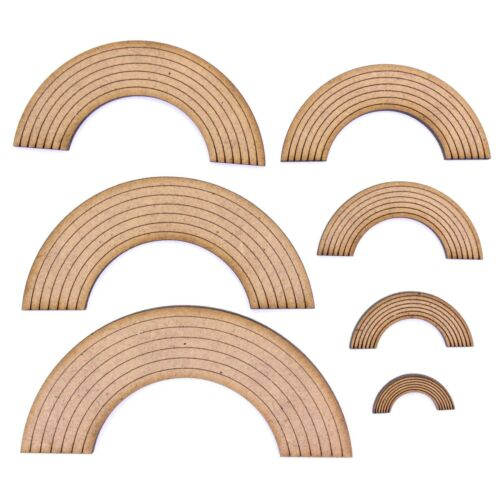 2mm MDF Wood. Various Sizes Rainbow Craft Shape