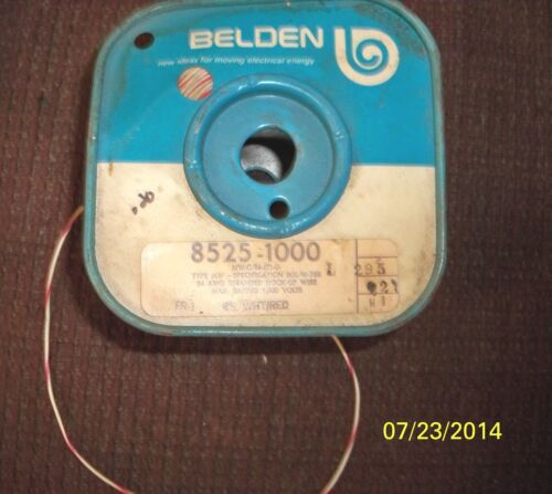 10ft Belden 24 AWG Stranded Hook-Up Wire Max Rating 1000 Volts White//Red