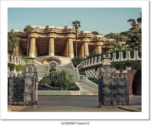 Antoni Gaudi In Barcelona Spain Art Print Home Decor Wall Art Poster
