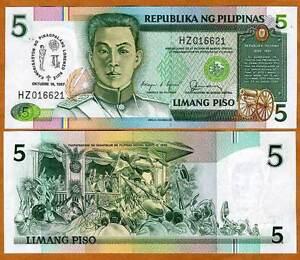 Philippines-5-Piso-1987-Commemorative-P-176-UNC-Canonization-of-San-Lorenzo