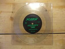 """POISON UK 7"""" CLEAR VINYL 1986 INTERVIEW (Strictly Limited Edition of 500) MINT"""