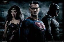 "Batman vs Superman Movie Silk Poster 13x20 24x36/"" Down Of Justice Wonder Woman"
