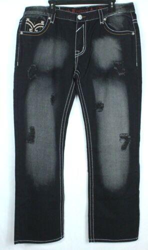 lavaggio angolato Women Revival con Sz 32 Jeans dritta tasche Rock nero patta sabbia 7pwxYWq