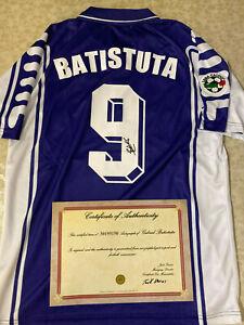 MAGLIA-BATISTUTA-AUTOGRAFATA-FIORENTINA-CAMPIONATO-LEGA-CALCIO-1999-2000-COA