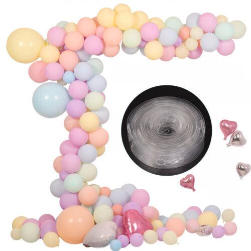 2pcs 5m Ballon-Streifen Schließen Kettenballon-Bogen-Dekor-Plastik-DIY Band