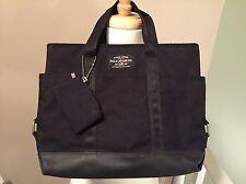 Ralph Lauren Polo Jeans Co Black Canvas Tote Bag Coin Pouch 90s Grunge Vtg EUC