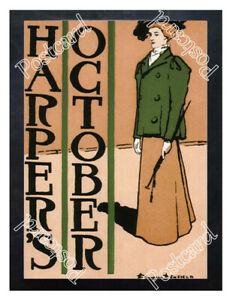 Historic-Harper-039-s-October-1895-Advertising-Postcard