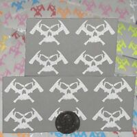 10 Pack  MICRO  Firefighter Decals Skull and Axes Logo Stickers Rescue and More