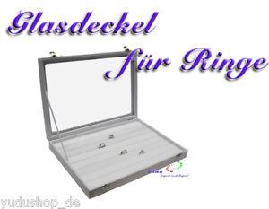 Hilfreich Schmuckkasten Schaukasten Für Ringe Glasdeckel Weiss Diversifiziert In Der Verpackung