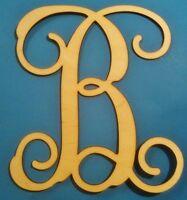 12 Wooden Interlocking Vine Letter Unfinished Wood Room Decor Custom Letter