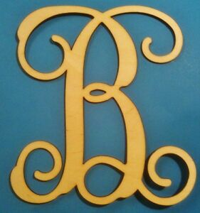 "28"" Wooden Interlocking Vine Letter Unfinished MDF 28 inch Decor Custom Letter"
